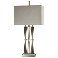 StyleCraft Home Collection L311895DS Signature 33 inch 100 watt Brushed Steel Table Lamp Portable Light