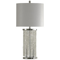 StyleCraft Home Collection L312064DS Signature 32 inch 100 watt Polished Steel Table Lamp Portable Light