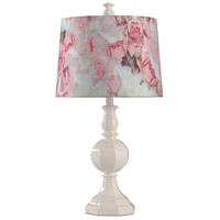 StyleCraft Home Collection L312158ADS Signature 27 inch 100 watt White Table Lamp Portable Light