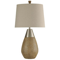 StyleCraft Home Collection L312499DS Signature 35 inch 150 watt Brown and Brushed Steel Table Lamp Portable Light