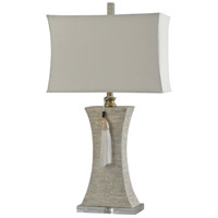 Wood/Silver Table Lamps