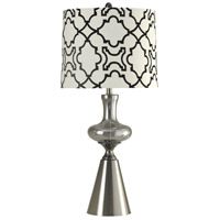 StyleCraft Home Collection L312506DS Signature 35 inch 150 watt Smoke Glass and Stainless Table Lamp Portable Light