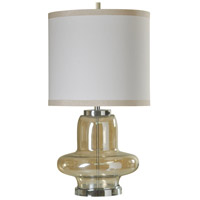 StyleCraft Home Collection L312596DS Signature 32 inch 150 watt Clear Glass and Chrome Table Lamp Portable Light