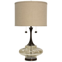 StyleCraft Home Collection L312597DS Signature 37 inch 60 watt Dark Brown Table Lamp Portable Light