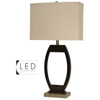 StyleCraft Home Collection L312717DS Signature 32 inch 100 watt Black and Brushed Steel Table Lamp Portable Light