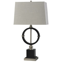 StyleCraft Home Collection L312721DS Draper 34 inch 150 watt Dark Espresso and Polished Nickel Table Lamp Portable Light