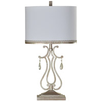 StyleCraft Home Collection L312866DS Signature 32 inch 100 watt Crystal Crest Table Lamp Portable Light