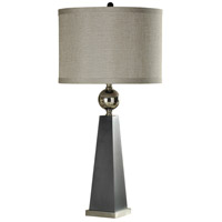 StyleCraft Home Collection L312897DS Signature 38 inch 150 watt Gray and Chrome Table Lamp Portable Light