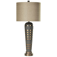 StyleCraft Home Collection L312968DS Signature 38 inch 150 watt Brushed Brass Table Lamp Portable Light