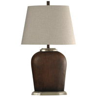 StyleCraft Home Collection L313083DS Signature 34 inch 100 watt Brown and Brushed Steel Table Lamp Portable Light
