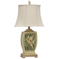 Signature 29 inch 100 watt Green and Tan Table Lamp Portable Light