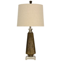 StyleCraft Home Collection L313364DS Signature 36 inch 150 watt Brown and Brushed Steel Table Lamp Portable Light