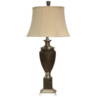 StyleCraft Home Collection L313365DS Signature 38 inch 150 watt Dark Brown and Stainless Steel Table Lamp Portable Light