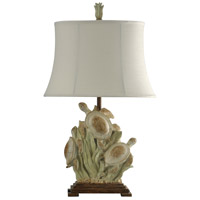 Signature 31 inch 150 watt Light Green and Brown and White Table Lamp Portable Light