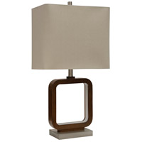 StyleCraft Home Collection L313388DS Signature 30 inch 100 watt Natural and Beige Table Lamp Portable Light