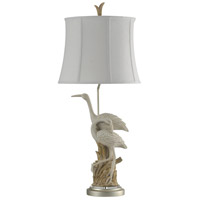 StyleCraft Home Collection L313390DS Signature 37 inch 150 watt Brown and White Table Lamp Portable Light