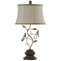 Signature 30 inch 100 watt Brown and Bronze Table Lamp Portable Light