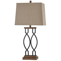 StyleCraft Home Collection L313561DS Signature 33 inch 100 watt Black Wood Table Lamp Portable Light
