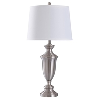 StyleCraft Home Collection L313581DS Signature 30 inch 100 watt Brush Nickel Table Lamp Portable Light
