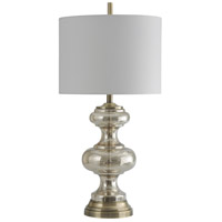 StyleCraft Home Collection L313750DS Signature 33 inch 150 watt Mercury with Antique Brass Table Lamp Portable Light