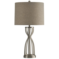 StyleCraft Home Collection L313795DS Signature 33 inch 150 watt Brushed Steel Table Lamp Portable Light