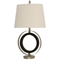StyleCraft Home Collection L313913DS Signature 34 inch 100 watt Black and Stainless Steel Table Lamp Portable Light