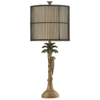 Signature 33 inch 150 watt Brown and Green Table Lamp Portable Light