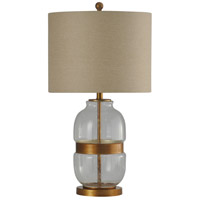 StyleCraft Home Collection L314070DS Signature 29 inch 150 watt Clear and Gold Table Lamp Portable Light