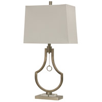 StyleCraft Home Collection L314119DS Signature 32 inch 100 watt Brushed Steel Table Lamp Portable Light