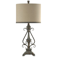 StyleCraft Home Collection L314186DS Signature 33 inch 150 watt Girona Blue Table Lamp Portable Light