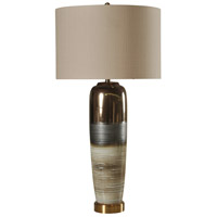 StyleCraft Home Collection L314234DS Signature 41 inch 100 watt White Gray and Gold Table Lamp Portable Light