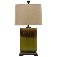 Signature 32 inch 100 watt Green and Brown Table Lamp Portable Light