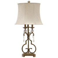 StyleCraft Home Collection L314355DS Signature 35 inch 150 watt Georgian Silver and Clear Table Lamp Portable Light
