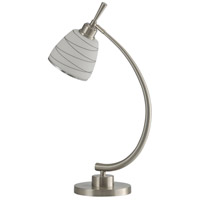 StyleCraft Home Collection L314358DS Signature 27 inch 40 watt Brushed Steel Table Lamp Portable Light