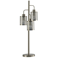 StyleCraft Home Collection L314421DS Signature 36 inch 9 watt Brushed Steel Table Lamp Portable Light