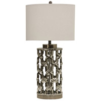 StyleCraft Home Collection L314422DS Signature 33 inch 100 watt Silver Table Lamp Portable Light