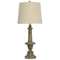 StyleCraft Home Collection L314461DS Signature 35 inch 150 watt Girona Blue Table Lamp Portable Light