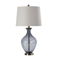 StyleCraft Home Collection L314596DS Signature 29 inch 150 watt Sheer Blue Table Lamp Portable Light