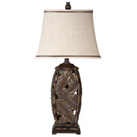 StyleCraft Home Collection L31468DS Signature 31 inch 100 watt Bermuda Brown Table Lamp Portable Light