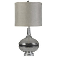 StyleCraft Home Collection L314689DS Signature 32 inch 150 watt Elyse Smoke Table Lamp Portable Light