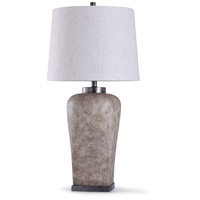 StyleCraft Home Collection L314856DS Ramsey 13 inch 150 watt Stone and Oatmeal Table Lamp Portable Light