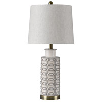 StyleCraft Home Collection L314929BDS Signature 27 inch 60 watt Cream and Gray Table Lamp Portable Light