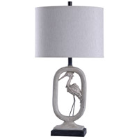 Grey and White Polyresin Table Lamps