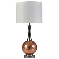 StyleCraft Home Collection L315332DS Alletta 37 inch 150 watt Metallic Copper Table Lamp Portable Light photo thumbnail