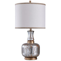 StyleCraft Home Collection L315437DS Signature 32 inch 150 watt Antique Silver and Copper with White Table Lamp Portable Light