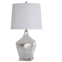 StyleCraft Home Collection L315449DS Signature 30 inch 100 watt Silver Mercury and Chrome Table Lamp Portable Light