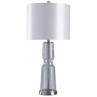 StyleCraft Home Collection L315671DS Signature 33 inch 150 watt Chrome and Clear Seeded with White Table Lamp Portable Light