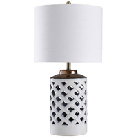 StyleCraft Home Collection L315684DS Signature 31 inch 150 watt White and Silver Table Lamp Portable Light