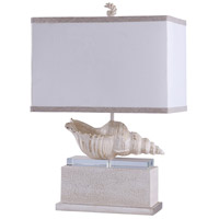 StyleCraft Home Collection L315765DS Signature 28 inch 150 watt Kelletia and White Table Lamp Portable Light
