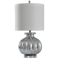 StyleCraft Home Collection L315838DS Cameron 29 inch 150.00 watt Silver Mercury and Clear Table Lamp Portable Light